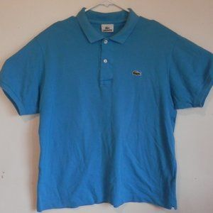 LACOSTE Polo Shirt Blue Size 4 Medium